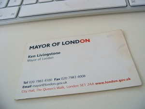 Business Card - Mayor of London